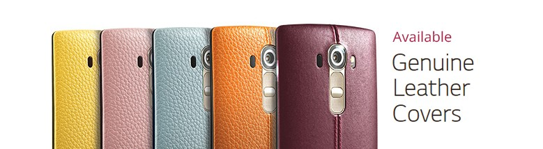 Capas de couro originais LG G4 SparesLG